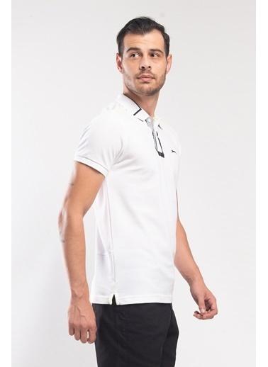 Slazenger Slazenger PHILIP Erkek T-Shirt  Beyaz